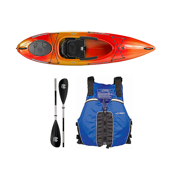 Wilderness Systems Pungo 100 Kayak Mango - Deluxe Package, Blue, 600