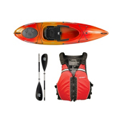 Wilderness Systems Pungo 100 Kayak Mango - Deluxe Package 2016, Red, medium