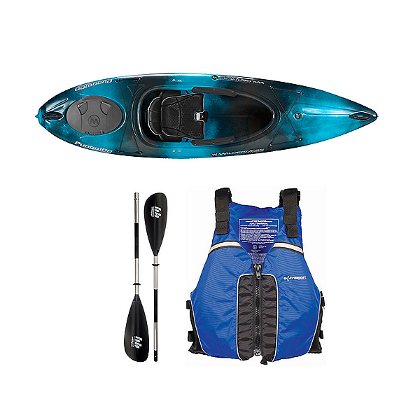 Wilderness Systems Pungo 100 Kayak Midnight - Deluxe Package, Blue, 600