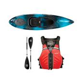 Wilderness Systems Pungo 100 Kayak Midnight - Deluxe Package, Red, medium