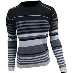 Obermeyer Fiona Stripe Knit Womens Sweater, Black, 256