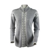Obermeyer Mia Knit Womens Sweater, Light Heather Grey, medium