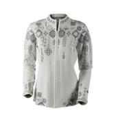 Obermeyer Chalet Knit Cardigan Womens Sweater, White, medium