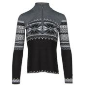 Obermeyer Carla Knit 1/2 Zip Womens Sweater, Black, medium