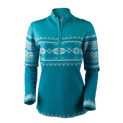 Obermeyer Carla Knit 1/2 Zip Womens Sweater, Black, viewer