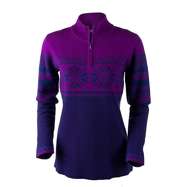 Obermeyer Carla Knit 1/2 Zip Womens Sweater, Azalea Purple, 600