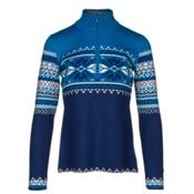 Obermeyer Carla Knit 1/2 Zip Womens Sweater, Dusk, medium