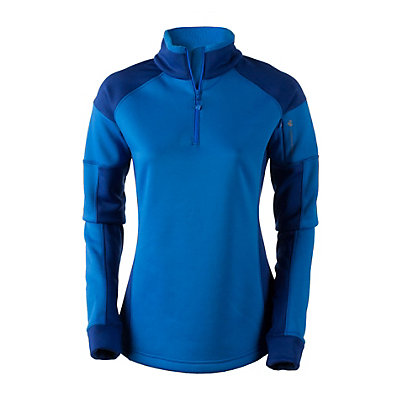 Obermeyer Nova Elite 150wt Zip Womens Mid Layer, Stellar Blue, viewer