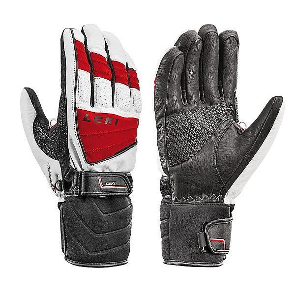 Leki Griffin S Gloves, White-Red-Black, 600