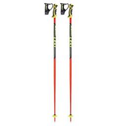 Leki World Cup SL Ski Poles 2018, Black-Red, 256