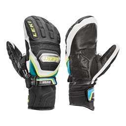 Leki World Cup Race Ti S Speed System Ski Racing Mittens, Black-White-Cyan-Yellow, 256
