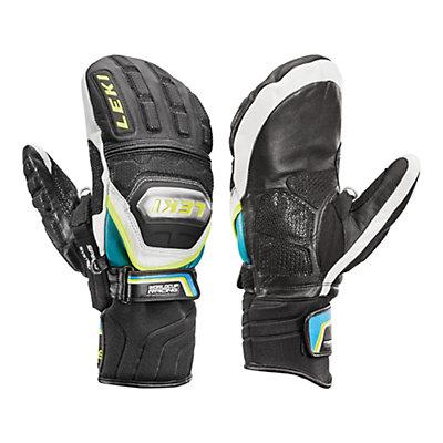 Leki World Cup Race Ti S Speed System Ski Racing Mittens, Black-White-Cyan-Yellow, viewer