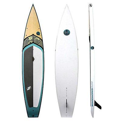 Boardworks Surf Kraken Touring Stand Up Paddleboard, Wood-Steel Blue, viewer