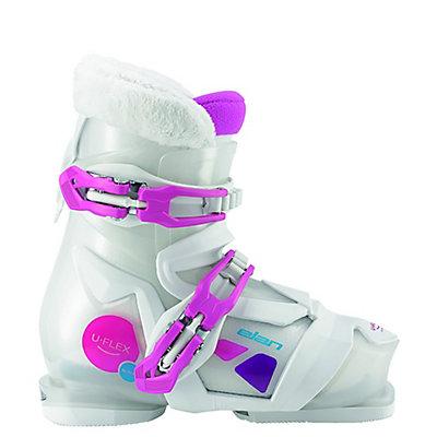 Elan Bloom 2 Girls Ski Boots 2017, White-Pink, viewer