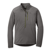 Outdoor Research Ferrosi Windshirt - Mens, Pewter-Lemongrass, medium