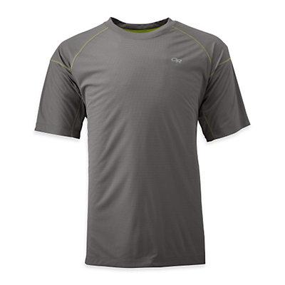 Outdoor Research Echo Mens T-Shirt, Hot Sauce-Redwood, viewer