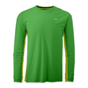 Outdoor Research Echo Long Sleeve Duo Tee, Flash-Lemongrass, medium