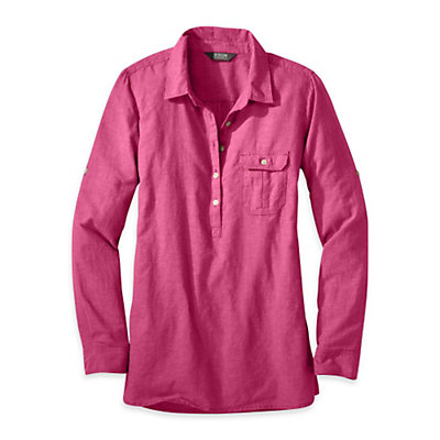 Outdoor Research Coralie Long Sleeve Womens Shirt, Sangria, viewer