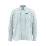 Simms Bugstopper LS Mens Shirt, Seafoam Plaid, medium