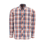 Simms Stone Cold LS Mens Shirt, Indigo Plaid, medium