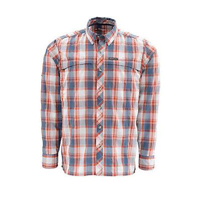 Simms Stone Cold LS Mens Shirt, Mist Plaid, viewer