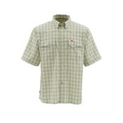 Simms Big Sky Short Sleeve Mens Shirt, Cork Plaid, medium