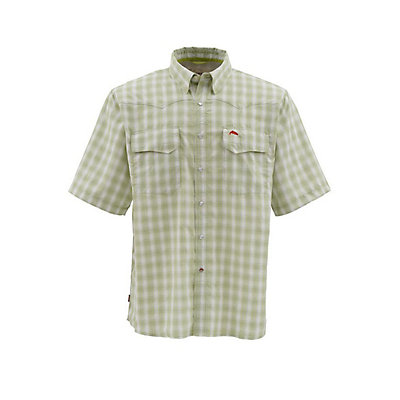 Simms Big Sky Short Sleeve Mens Shirt, Cork Plaid, viewer