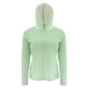 Simms Solarflex Womens Hoodie, Geo Fade Spring Green, medium