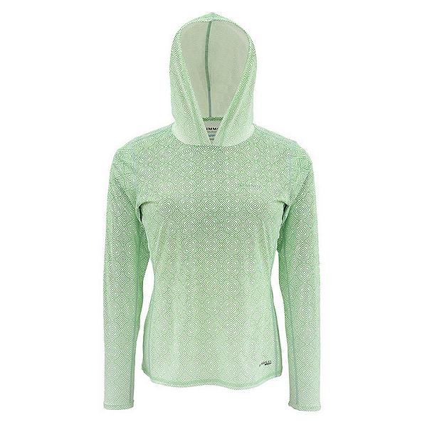 Simms Solarflex Womens Hoodie, Geo Fade Spring Green, 600