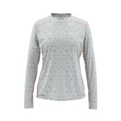Simms Solarflex LS Crew Womens Shirt, Ripple Dots Moonstone, medium