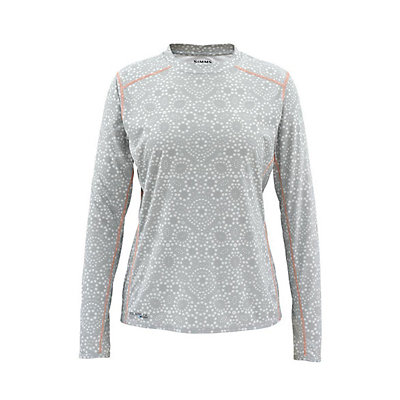 Simms Solarflex LS Crew Womens Shirt, Ripple Dots Moonstone, viewer