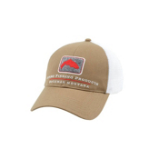 Simms Trout Trucker Hat, Coffee, medium