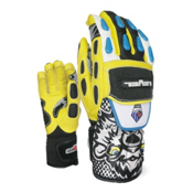 Level WorldCup CF Ski Racing Gloves, Black-Yellow, medium