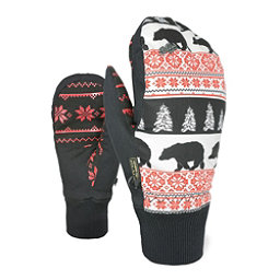 Level Bliss Coral Womens Mittens, Red, 256