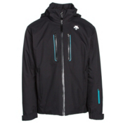 Descente Vertex Mens Insulated Ski Jacket, Black-Black-Teal Blue, medium
