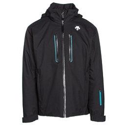 Descente Vertex Mens Insulated Ski Jacket, Black-Black-Teal Blue, 256