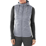SmartWool Double Propulsion 60 Hooded Womens Vest, Silver, medium