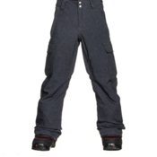 Burton Exile Cargo Kids Snowboard Pants, Heather Iron Grey, medium