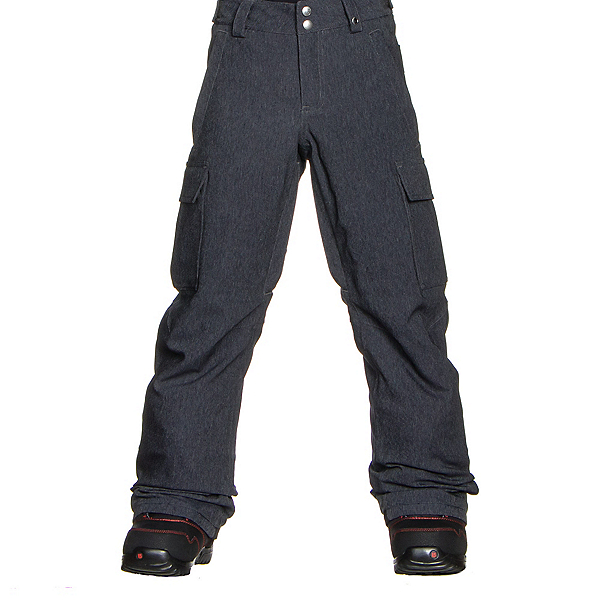 Burton Exile Cargo Kids Snowboard Pants, Heather Iron Grey, 600