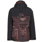 Burton Encore Mens Insulated Snowboard Jacket, True Black-Canyon, medium