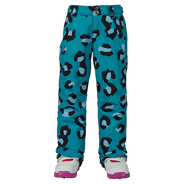 Burton Sweetart Girls Snowboard Pants, Everglade Super Leopard, 600