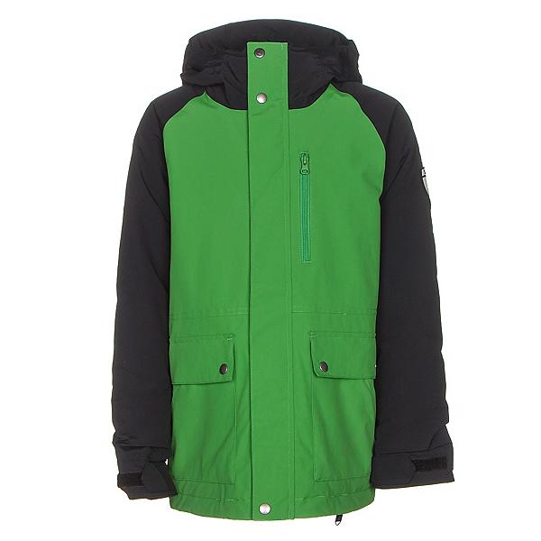 Burton Phase Boys Snowboard Jacket, Slime-True Black, 600