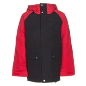 Burton Phase Boys Snowboard Jacket, True Black-Process Red, medium