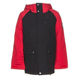 Burton Phase Boys Snowboard Jacket, True Black-Process Red, 256