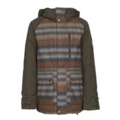 Burton Phase Boys Snowboard Jacket, Beaver Tail Beach Stripe-Keef, medium