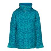 Burton Elodie Girls Snowboard Jacket, Everglade Wallaby Stamp, medium