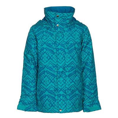 Burton Elodie Girls Snowboard Jacket, Everglade Wallaby Stamp, viewer