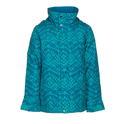 Burton Elodie Girls Snowboard Jacket, Everglade Wallaby Stamp, viewer