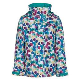 Burton Elodie Girls Snowboard Jacket, Rainbow Drops, 256