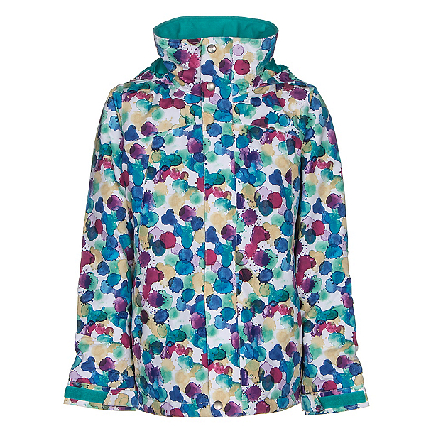 Burton Elodie Girls Snowboard Jacket, Rainbow Drops, 600